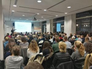 Patrick Ruthven-Murray bei einer Info-Veranstaltung von planZ im November 2017.